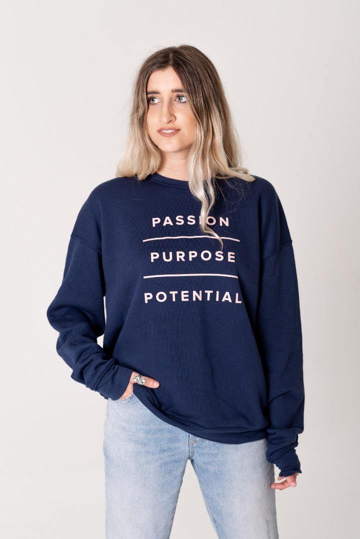 Passion, Potential, Purpose Sweatshirt