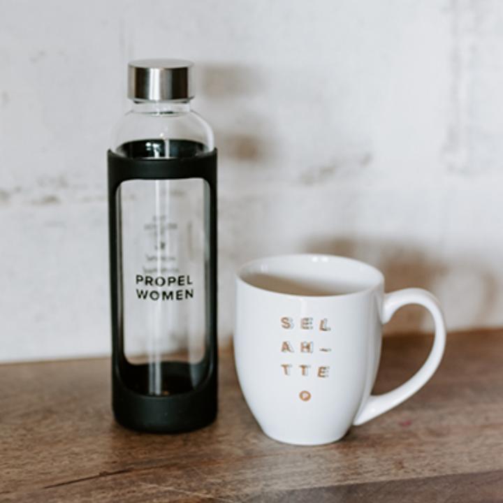 Propel Women Glass Water Bottle