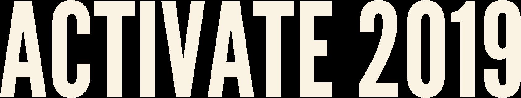 Activate 2019